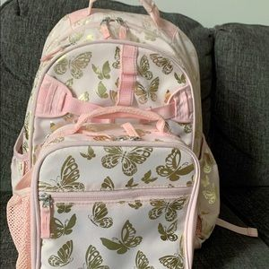 Large Mckenzie backpack with lunchbag set